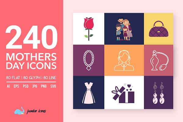 Mothers Day Vector Icons