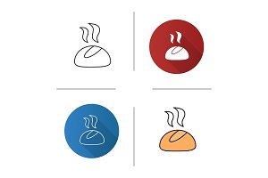 Dinner roll icon