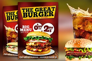 Burger Fast Food Flyer Restaurant