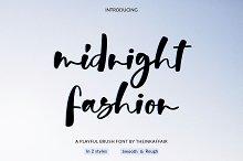 Midnight Fashion Script Font
