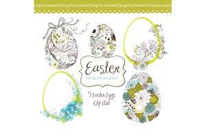 Easter eggs Clip Art. Easter clipart