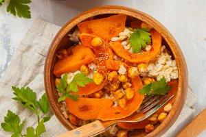 Vegan curry pumpkin rice