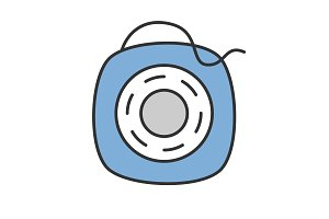 Dental floss color icon