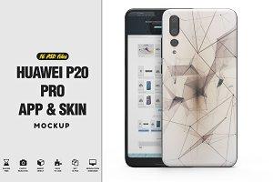 Huawei P20 Pro App & Skin Mockup