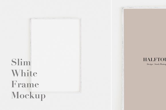 Slim White Frame Mockup 2x3 Ratio Graphics Creative Market