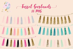 Tassel Garlands Clipart