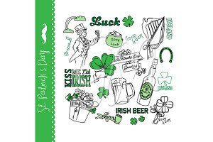St Patricks Day doodles, Irish,green
