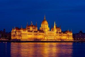 Budapest Parliament and river
