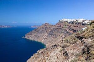 Imerovigli town, view on Aegean sea