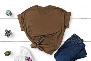 Gildan T-shirt Mockup Chestnut