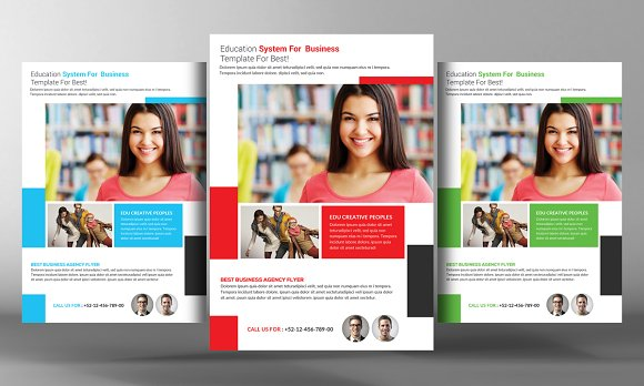 5 college education flyers bundle flyer templates creative market