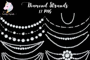 Diamond Strands Clipart