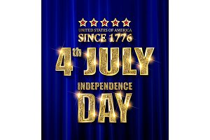 4th of July independence Day banners