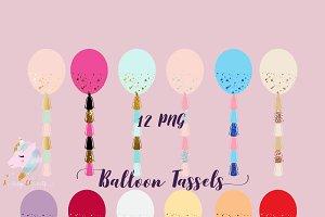 Balloon Tassels Clipart