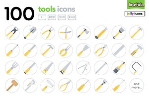 100 Tools Icons - Jolly