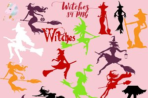 Hot Witches Clipart 84 PNGs