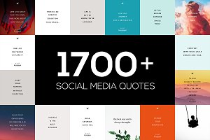 1700+ Social Media Quotes BUNDLE