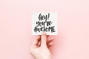 Hey! You're awesome