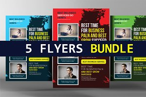 5 Insurance Business Flyers Bundle
