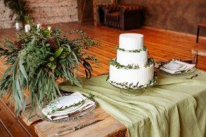 Handmade biscuit white cake