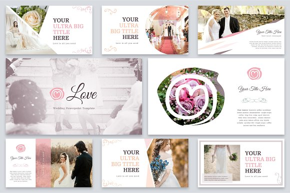 love wedding powerpoint template presentation templates