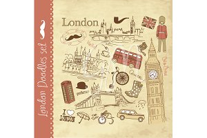 London clip art and paper set