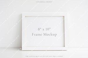 Landscape frame mockup - 8x10
