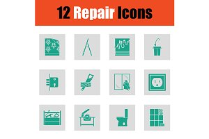 Set of repair icons