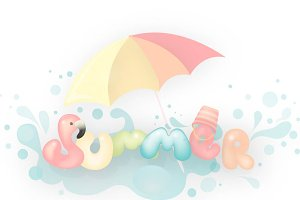 Summer holidays fun vector clipart