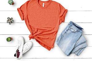Bella Canvas TShirt Mockup Orange