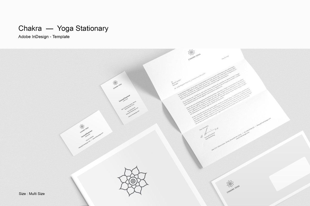 Yoga Stationery Stationery Templates Creative Market