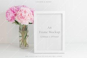 A4 White frame mockup - portrait