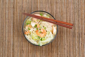 Hot Chinese Noodle Dish