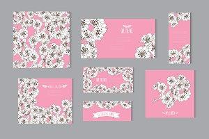 Cherry Blossom Floral Cards