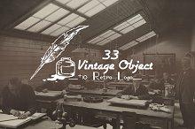 33 Retro Object + 10 Logo