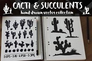 Vector Cacti & Succulents Set