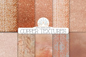 COPPER TEXTURES digital paper
