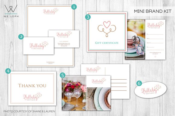 Mini brand kit boutique