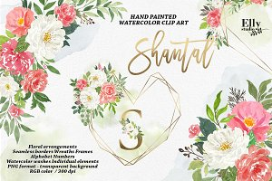 Watercolor Floral Graphic Set