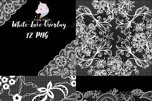 White Lace Overlay Clipart