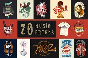 20+ Music Prints Set