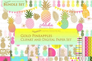 Flat Gold Pineapple
