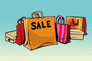bags sale, season discount background