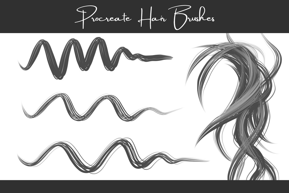 Procreate Hair Brushes