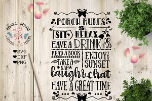 Porch RulesCut File and Printable