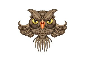 Owl - vector illustration.