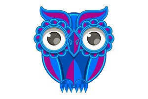 Ornament owl vector.
