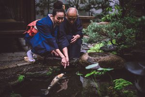 Senior couple moments in Kyoto