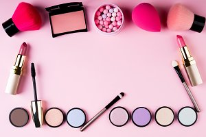 Frame of makeup products