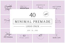 Minimal Premade Logo Bundle V04 by MD ATIQUR RAHMAN in Logos